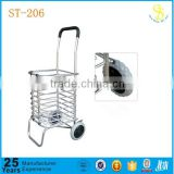 Hot sale 2 wheels aluminium foldable shopping trolley cart, folding shopping cart for elder, grocery shopping carts for sale