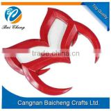 red and black car logo stickers of customized design by baicheng factory directly with cheap price and high quality OF abs