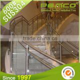 2016 New Design Polished/Hairline/Stain Finish 304 Stainless Steel Hospital Corridor Glass Stair Handrail