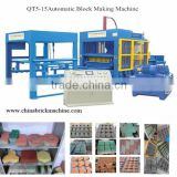 automatic fly ash concrete block making machine QT5-15 cement blocks making machine price