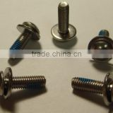 Button Head assemble with Washer Security Hexagon Socket Screw Bolt with Nylok Hardware Fasteners