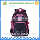 2015 wholesale comfortable backpack customized two side pocket kids polyester bag school