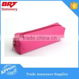 Polyester Fabric Red Color Zipper Lock Pencil Case
