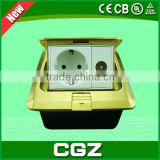 CGZ Brand 2015 new hot sale high-quality battery powered plug floor socket