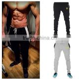 New 2015 Gasp/Golds Gym Fitness Long Pants Men Outdoor Casual Sweatpants Baggy Jogger Trousers Fashion Fitted Bottoms