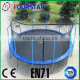 2014 new design crazy trampoline, comfortable pp jumping mat with 108 spring with colorful spring cover pad, SX-FT(E)