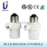 UL Approved E27 Lamp Holder Photo Control LED Controller Remote Control Switch