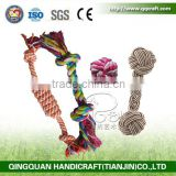QingQ Factory Best Durable Pet Dogs Training Rope Toy with two, three, or four knots