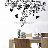 Large160*100cm beautiful butterfly rattan flower sitting room the bedroom TV setting wall waterproof decorative stickers JM7023