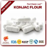 Private Label Amorphophallus Konjac Flour Root Powder Hard Capsules