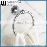 Customized Made In China Zinc Alloy Chrome Finishing Bathroom Sanitary Items Wall Mounted Towel Ring