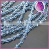 Bead,glass,blue,9x6mm half-hand faceted teardrop