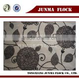 Junma grey black dots design manufacturer china fabric paint spray flocking
