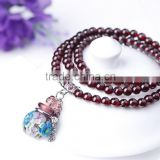 New Arrival Elegant Garnet Beads Bracelet Essential Oil Vial Bracelet Jewelry Wholesales