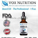 30 ml Bottle Beard Oil - The Professional Scented - Private Label Beard Oil Hair and Skin Care Supplement