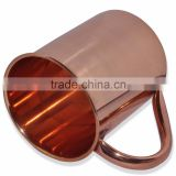 16 oz Solid Copper Moscow Mule MUGS 100% SOLID COPPER MULE MUGS SOLID COPPER MUGS MANUFACTURER INDIA