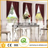 TH375 Comtemporary Tempered Glass Mirrored Dining Room Table
