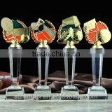 Tennis badminton football basketball wholesale crystal sports trophy