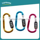 Toprank Manufacturers Selling Zinc Alloy Carabiner Key Chain Lock Type D Mountain Climbing Hook With Safety Automatic Lock