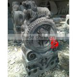 marble chinese antique lion statue on drum