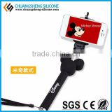 selfie stick with bluetooth shutter button, selfie stick with cable, monopod selfie stick