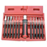 12 Pieces Interchangeable Punch and Chisel Set