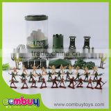 Wholesale military base set kids play plastic soldier toys