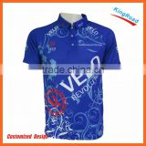 Wholesale Best quality men dye sublimation dri fit polo shirts with any color printed