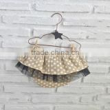 Khaki polka dot diaper cover skirt girls bloomer dress chiffon underwear bulk wholesale china factory