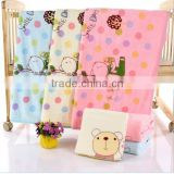 Kids soft environmentally-friendly bamboo towel wholesale Plain dyed organic bamboo face towel