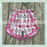 little girls ruffle shorts pom pom girls shorts name brand kids clothing wholesale