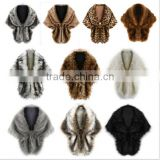 Winter Fashion Luxury Faux Fur Coat New Capes And Ponchos Women's Warm Fake Fur Cloak Shawls