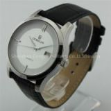 china wholesale japan movt quartz watch stainless steel back leather strap custom watches