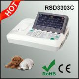 Three Channel ECG Machine for Animals Dogs, Cats, Horses