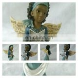 resin wing angel figurine for home and festival decor