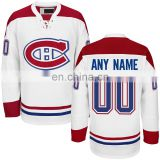 2016 Montreal Canadiens Embroidered White Premier Away Custom Jersey
