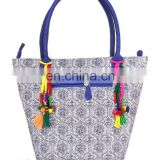 Latest Handmade Geometric Printed With Kantha Cotton Shoulder bags Fashion lady handbags female handbags classical handbag