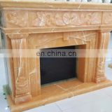 hand carved indoor onyx fireplace