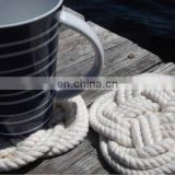 nautical rope coaster rope coaster rope coaster white rope coaster handmade nautical coaster