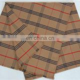 check scarf 100% cotton scarf