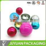 christmas empty gift tin ball,candy packing tin ball