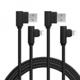 Wholesale Angled USB Charger Cable Fast Speedy Charging & Data Sync Cable Adapter Metal Plug Nylon Braided Cord for iPho