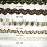 High quality braided lurex narrow ribbon