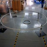 10ft diameter roundness pipe and drape system curve stand poles wedding use backdrop system