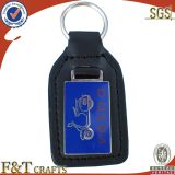 oem promotional imitation leather london keychain with custom logo