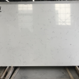 Artificial carrara white quartz stone slab