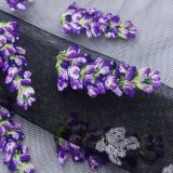 flower patterns spandex embroidery on lace fabric