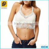 Ladies Fashion Summer Wear New Look white crochet bralet sexy crop tops for women