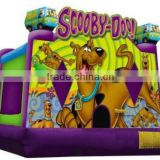 Cute animal dog castle inflatable bouncer kids mini inflatable bouncy entertainment house