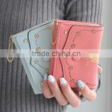 hot sell new fashion pu leather women wallets trendy long design leather wallets for women